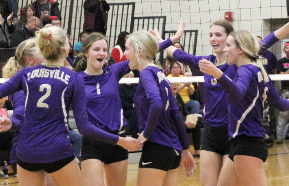 Team celebrates point in game two