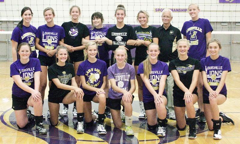 Louisville volleyball team photo