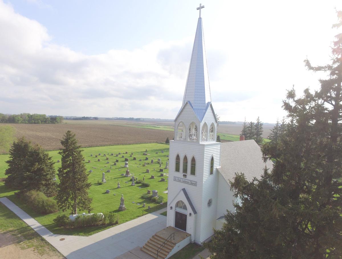 Church to dedicate new steeple local news fremonttribune church steeple aerial view altavistaventures Image collections