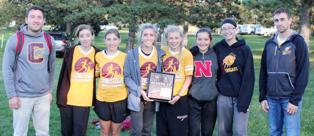 Conestoga girls with runner-up district plaque