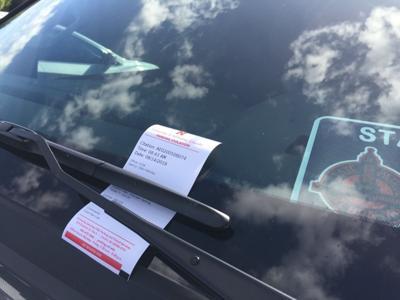 Gov. parking ticket