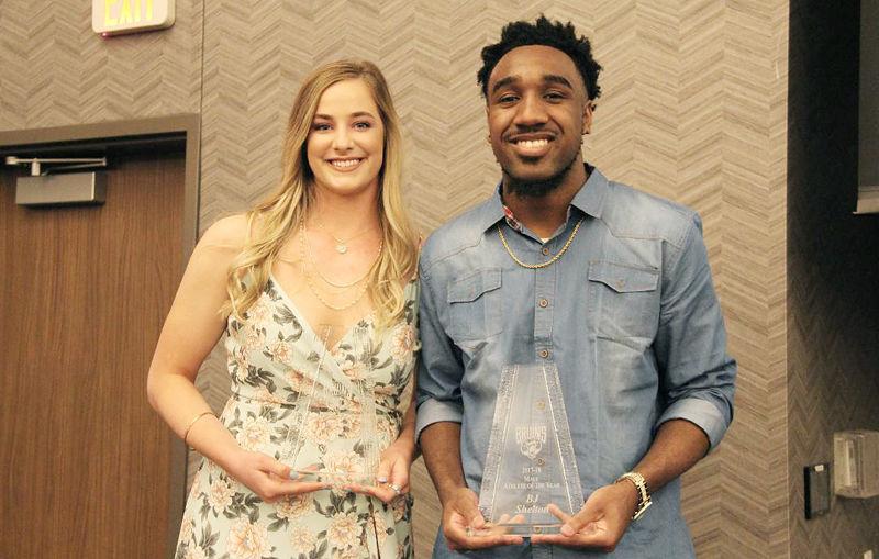 Shayla Scanlan and BJ Shelton Bellevue Athletes of Year
