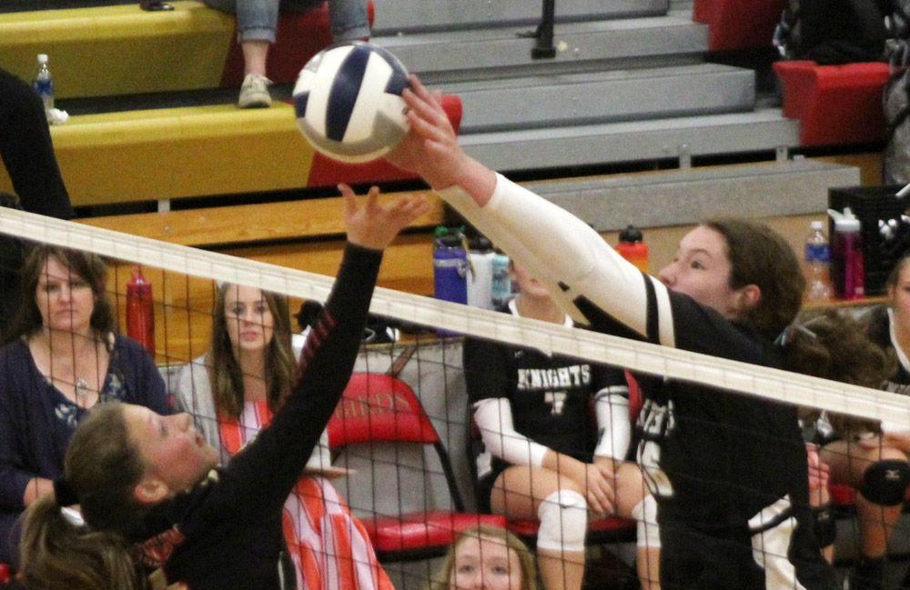 Brenna Schmidt blocks JCC attempt