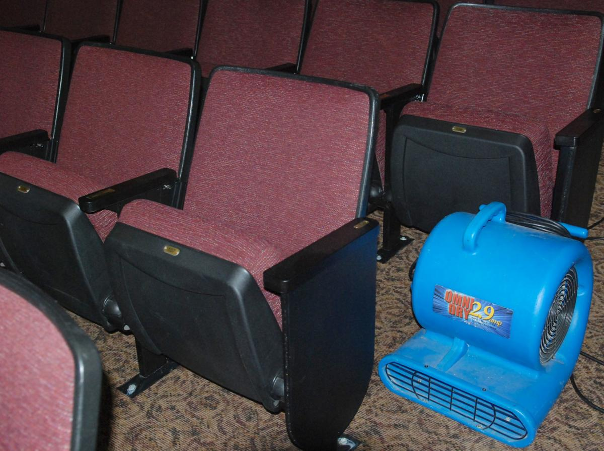 Drying out theater seats and carpet