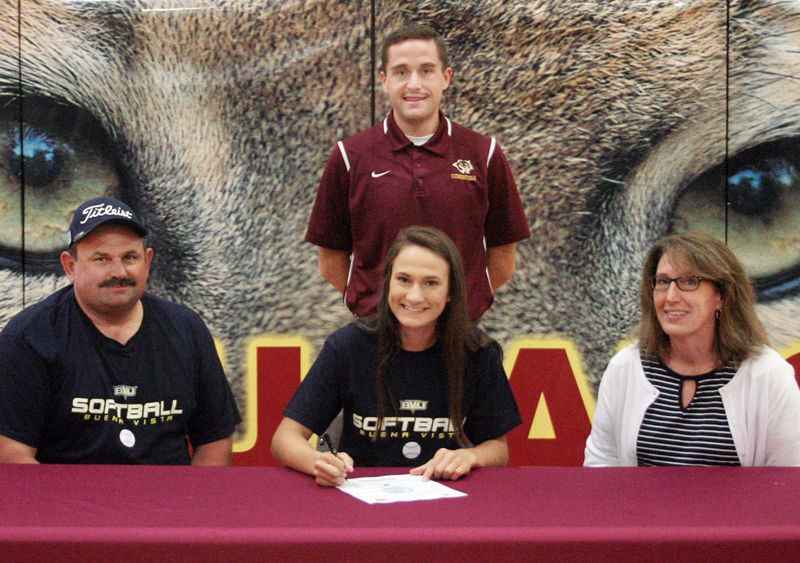 Courtney Wagner signs with Buena Vista softball