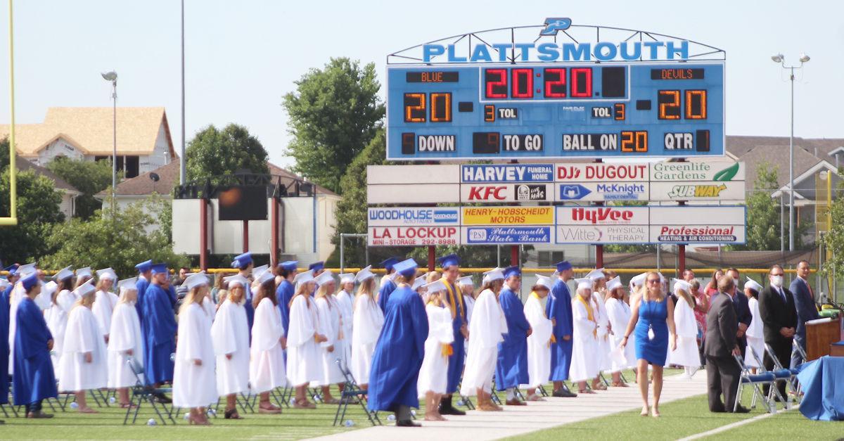 Graduates and Plattsmouth scoreboard