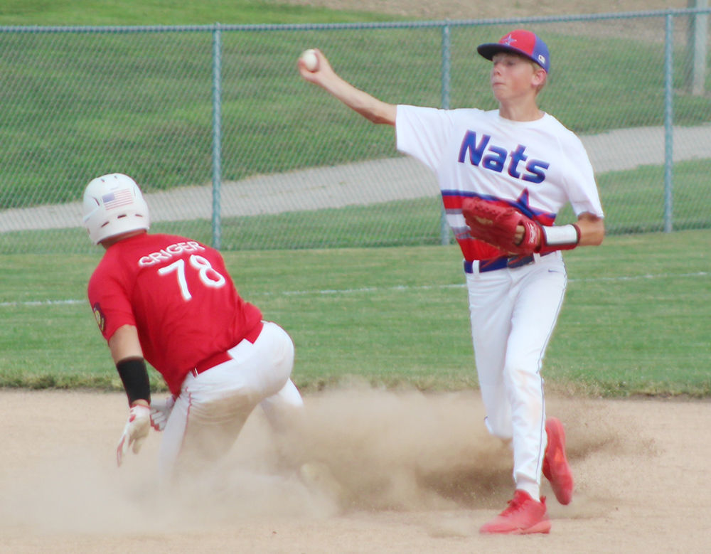 Ty Fox makes play at second base