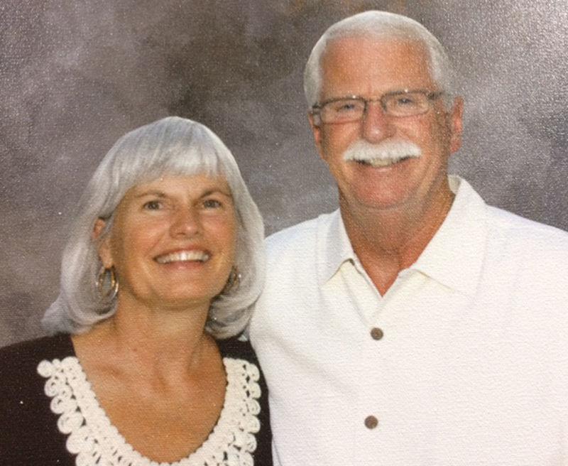 Alzheimers woman and husband horizontal