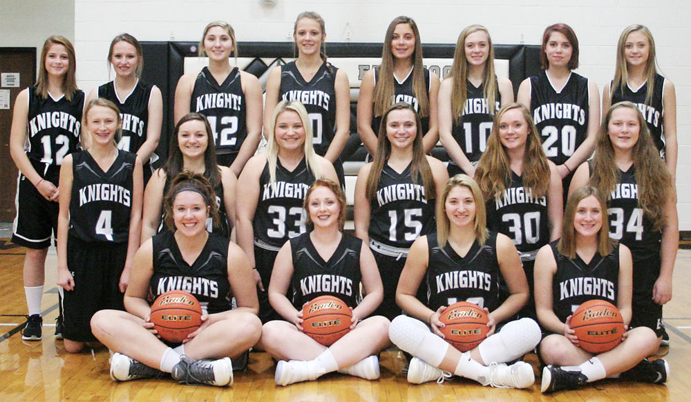 2017-18 Elmwood-Murdock girls basketball team photo
