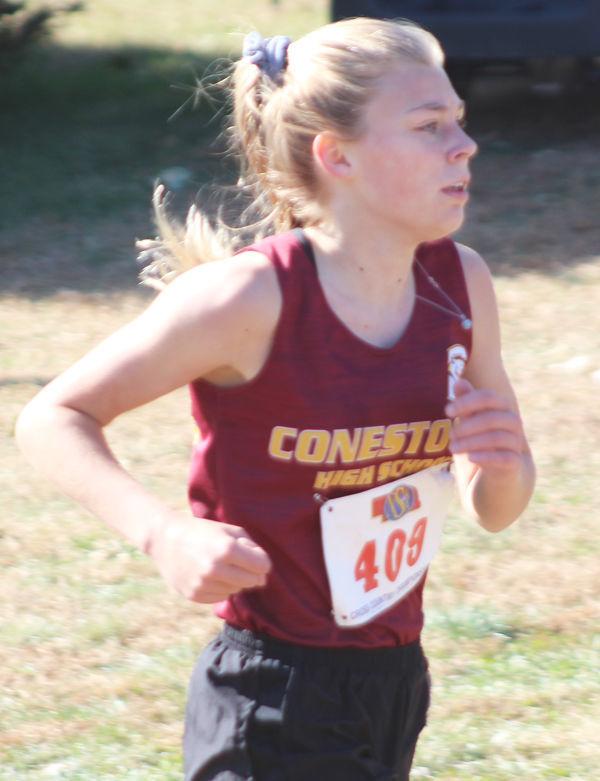 Danie Parriott near finish line