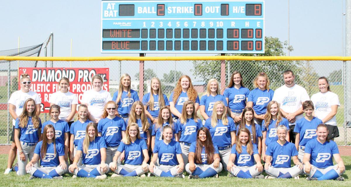 2018 Plattsmouth softball team photo