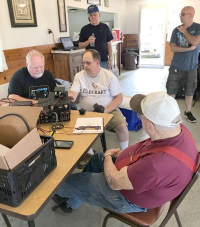 Amateur radio guys at Izaak Walton
