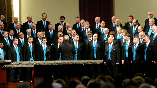 Pathfinder singers at Christmas at church