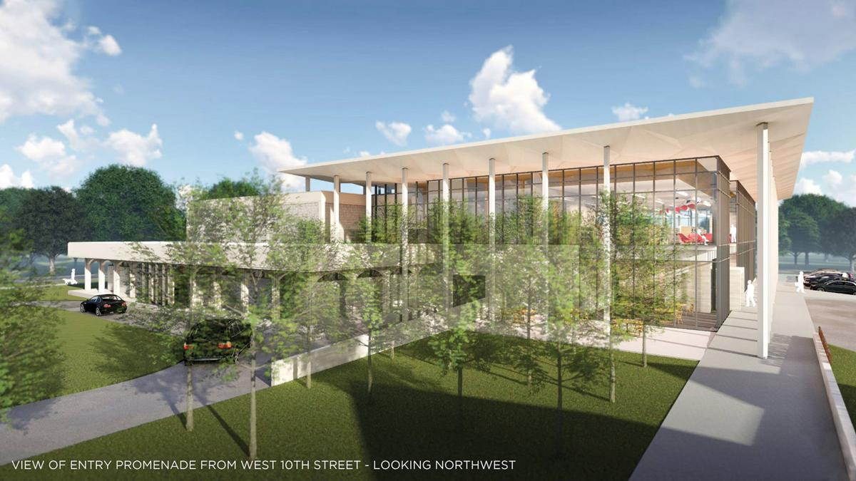 Conceptual image of llibrary exterior