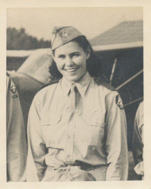 Norma Adams in CAP uniform