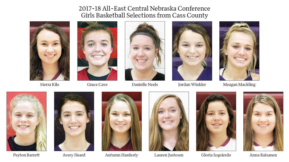 2017-18 All-East Central Nebraska Conference Girls Basketball Selections from Cass County