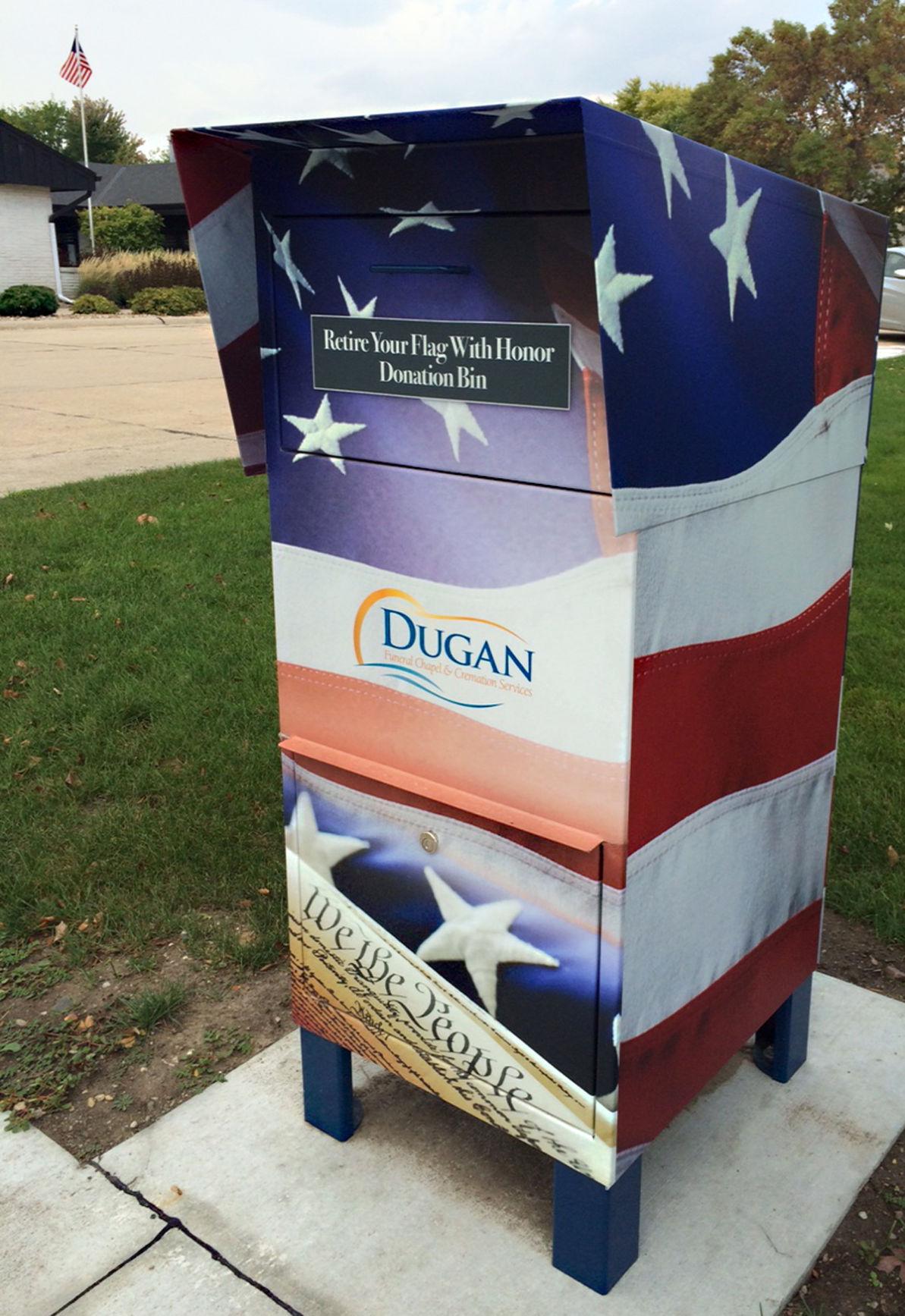 Flag collection box