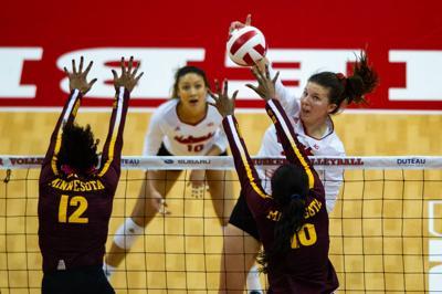 NU Volleyball vs. Minnesota, 10/6
