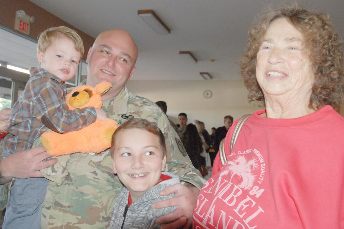 Soldier at Welcome Home event