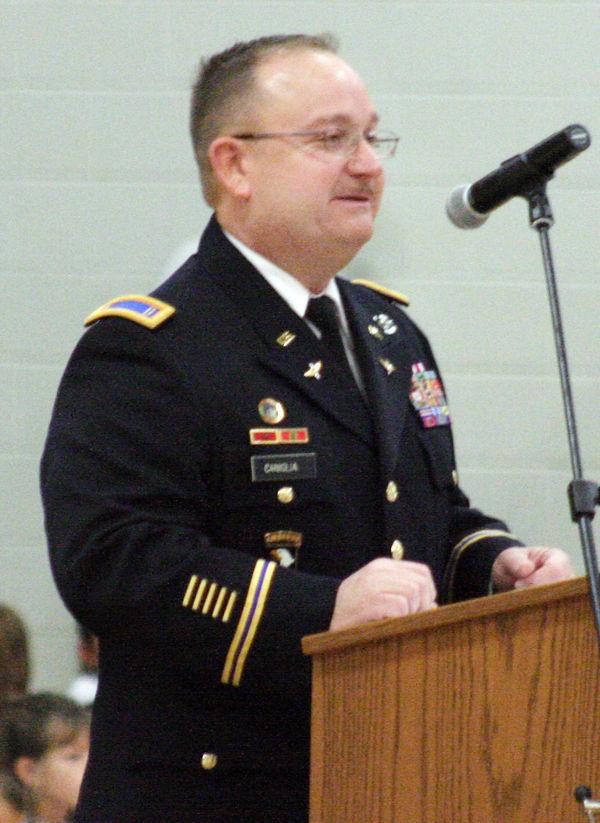 Jeffery Caniglia speaks at Louisville ceremony
