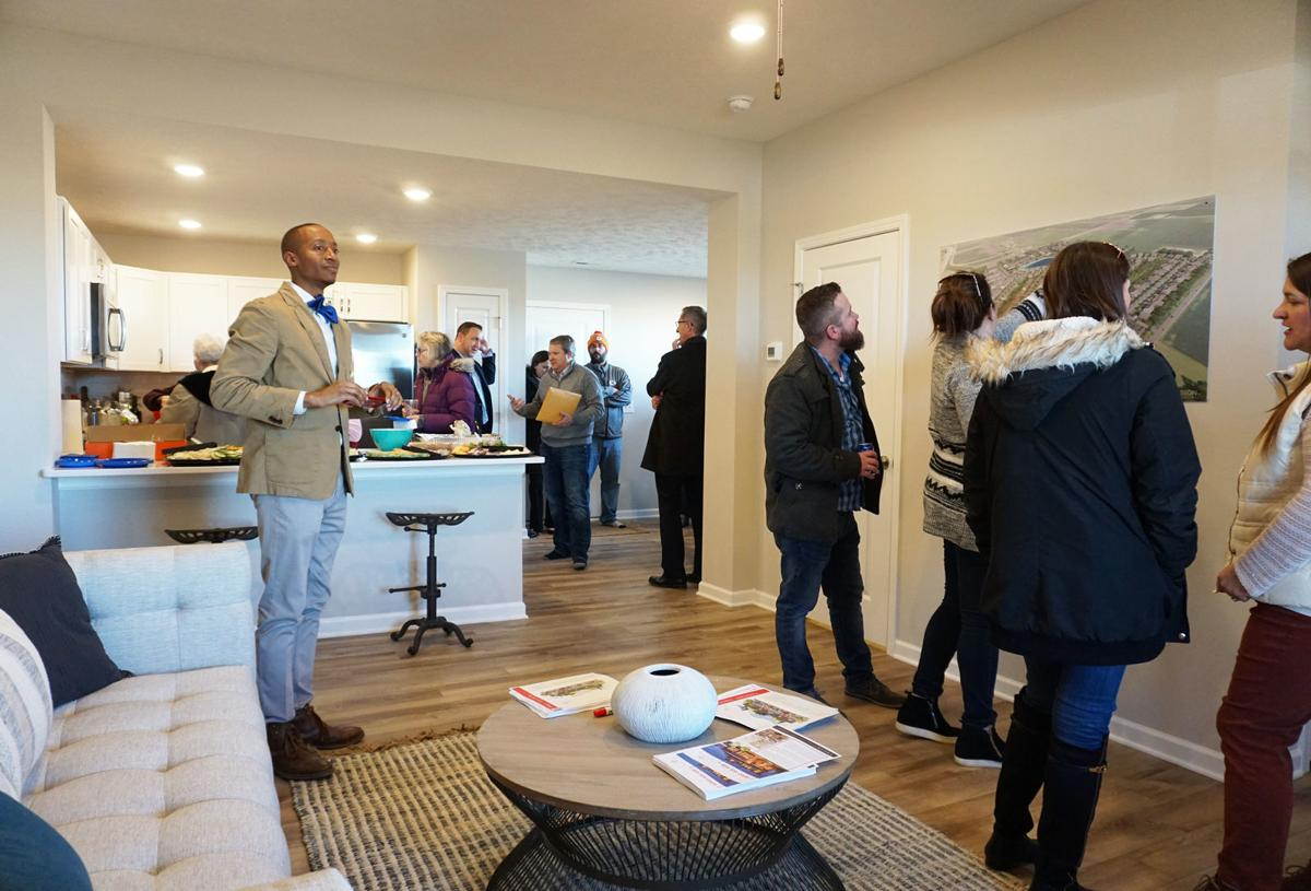 People during open house at Brosnstone