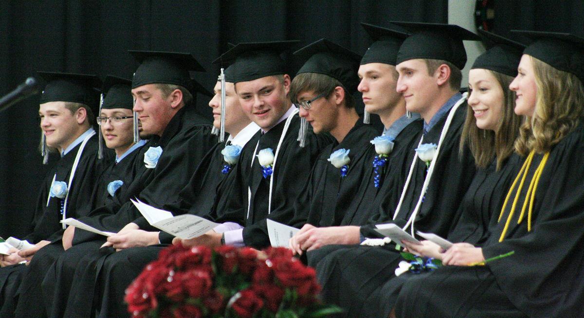 Front row of graduates