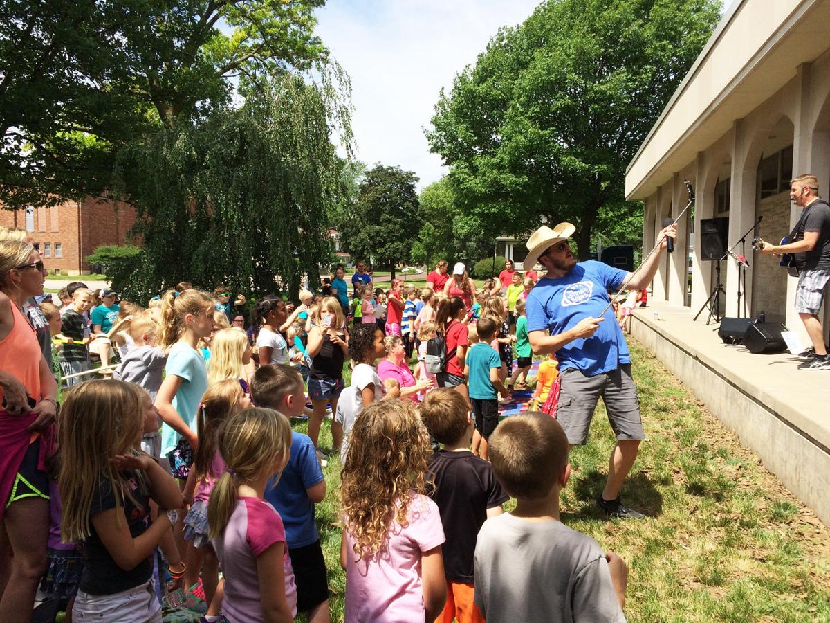 Outdoor event at Keene Memorial Library