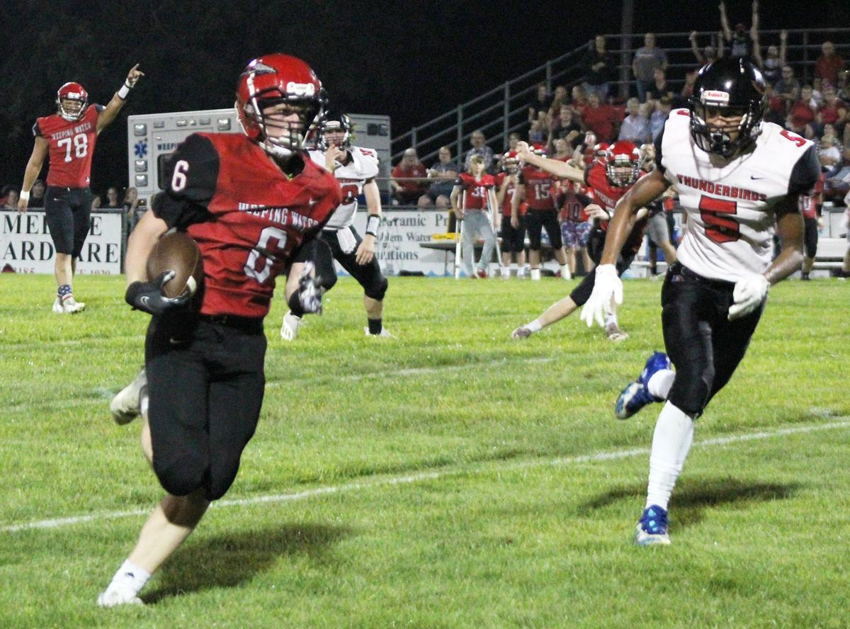 Ethan Essary scores on final play of first half