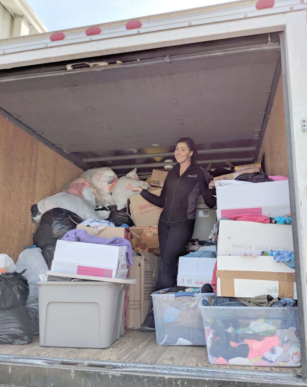 Flood efforts supply truck