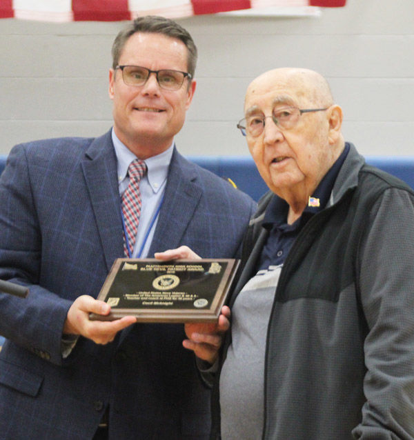 Cecil McKnight honored with Blue Devil Patriot Award