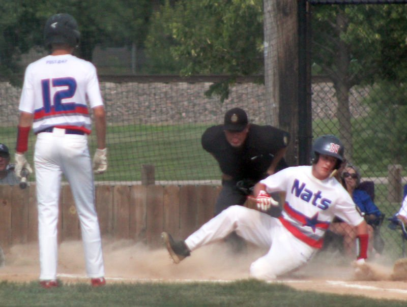 Jakob Boucher scores in first inning