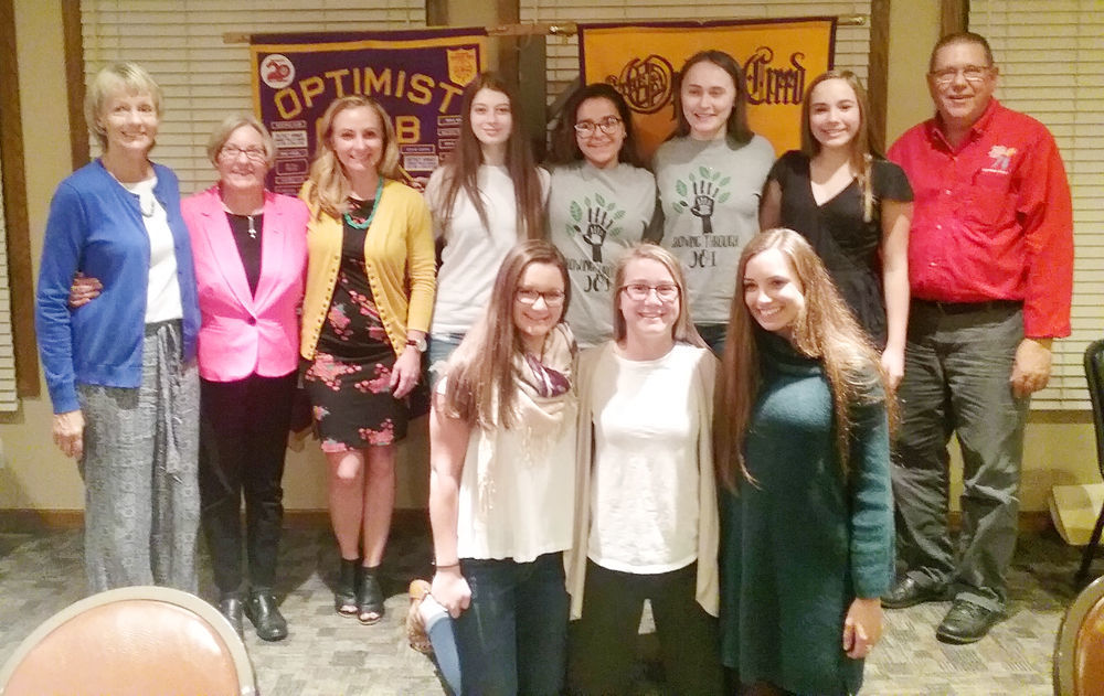 Junior Optimist members at banquet