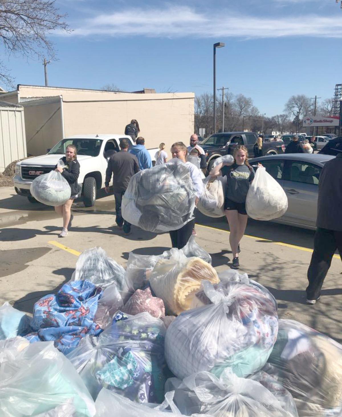 Flood efforts case workers and volunteers