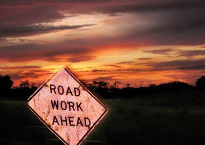 Road construction logo