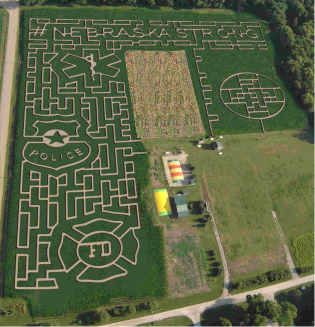 2019 Camp Fontanelle corn maze