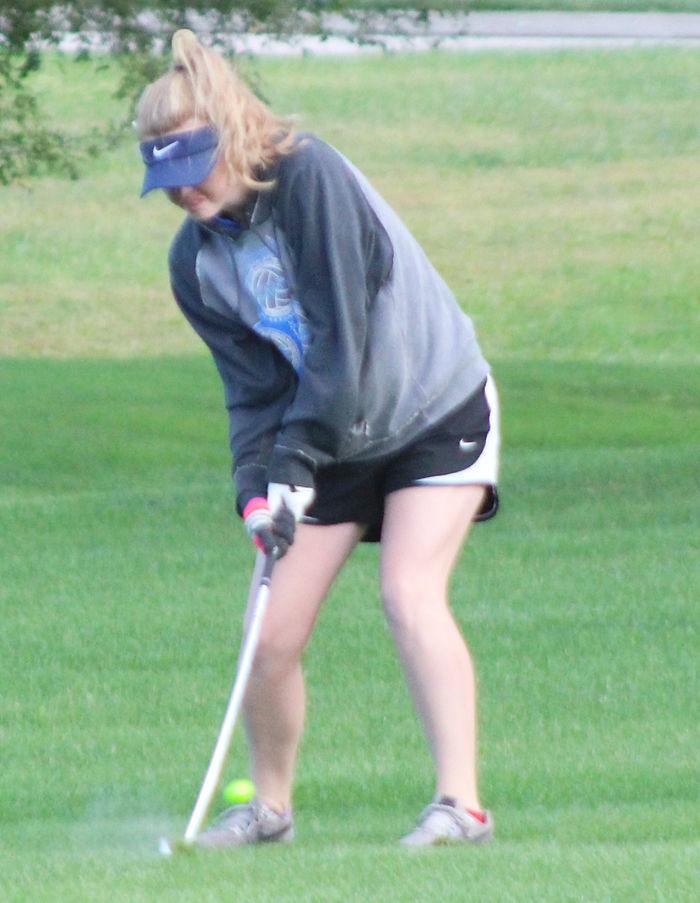 Emily Martin golfs for Plattsmouth