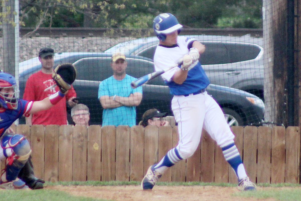Nathan Konkler swings vs Norris