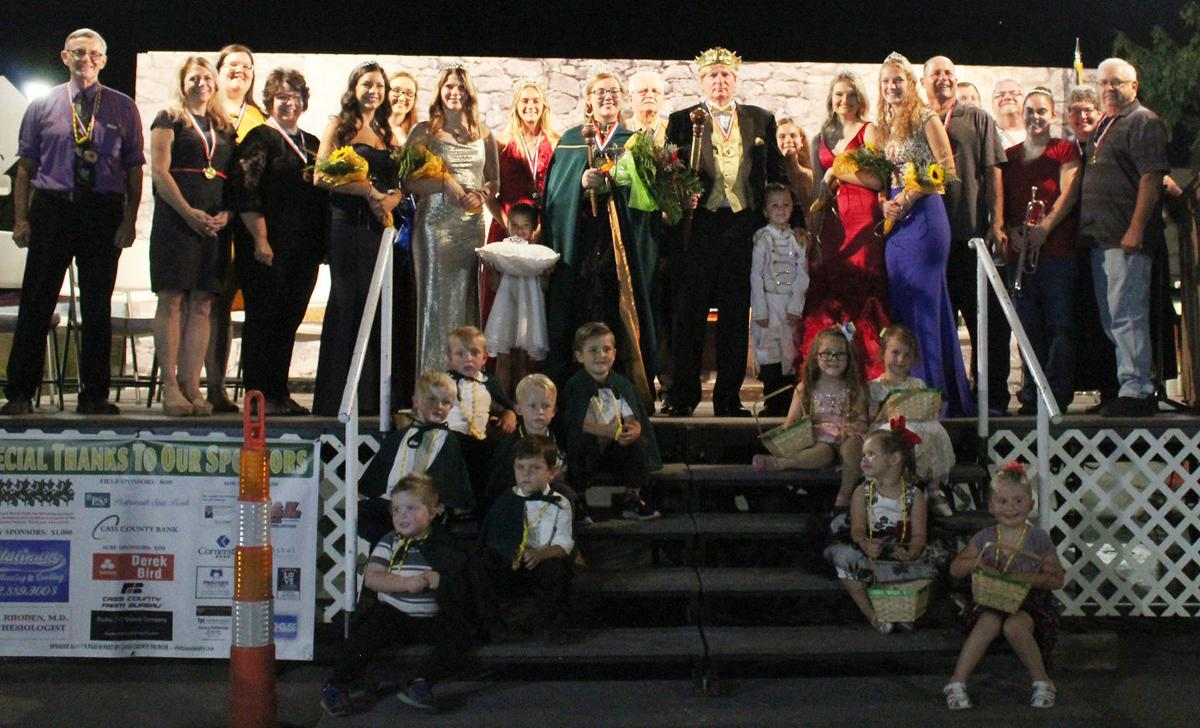 Entire Harvest Festival Court on stage