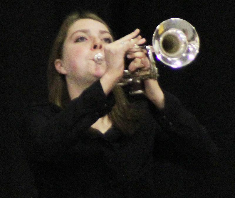 Cassidy Hartig plays Taps at Veterans Day ceremony