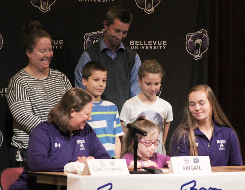 Abigail Harvey signs letter of intent with Bellevue softball