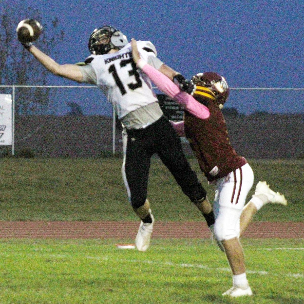 Henry Coleman makes one handed catch against Conestoga