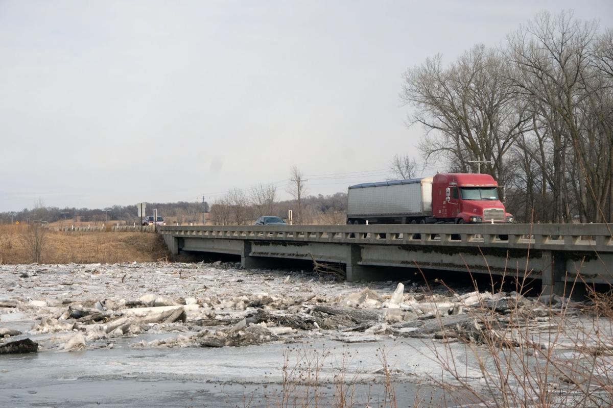 Elkhorn River Ice Jam