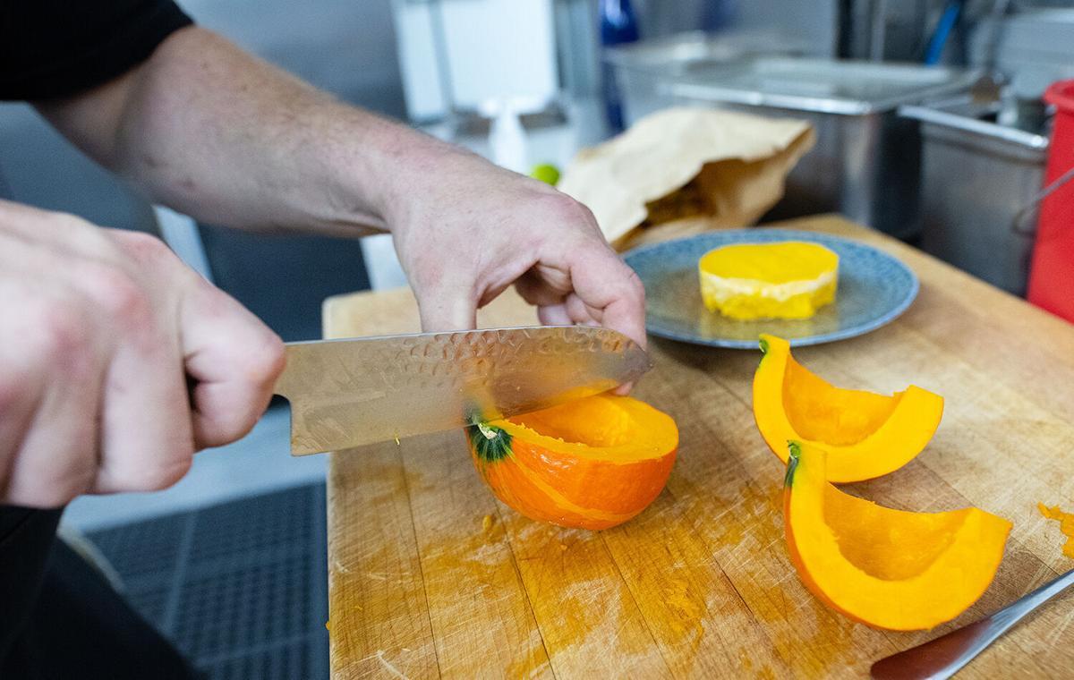 Pumpkin sformato with fattoush salad 2