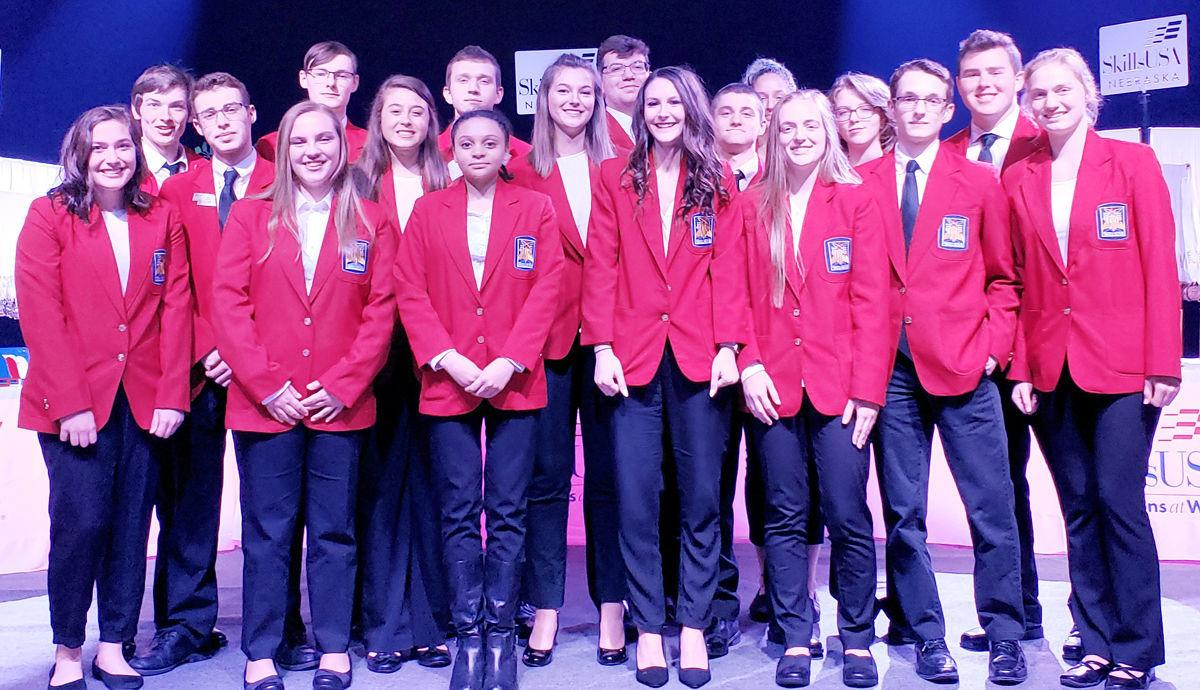 Louisville SkillsUSA chapter members at 2019 state convention