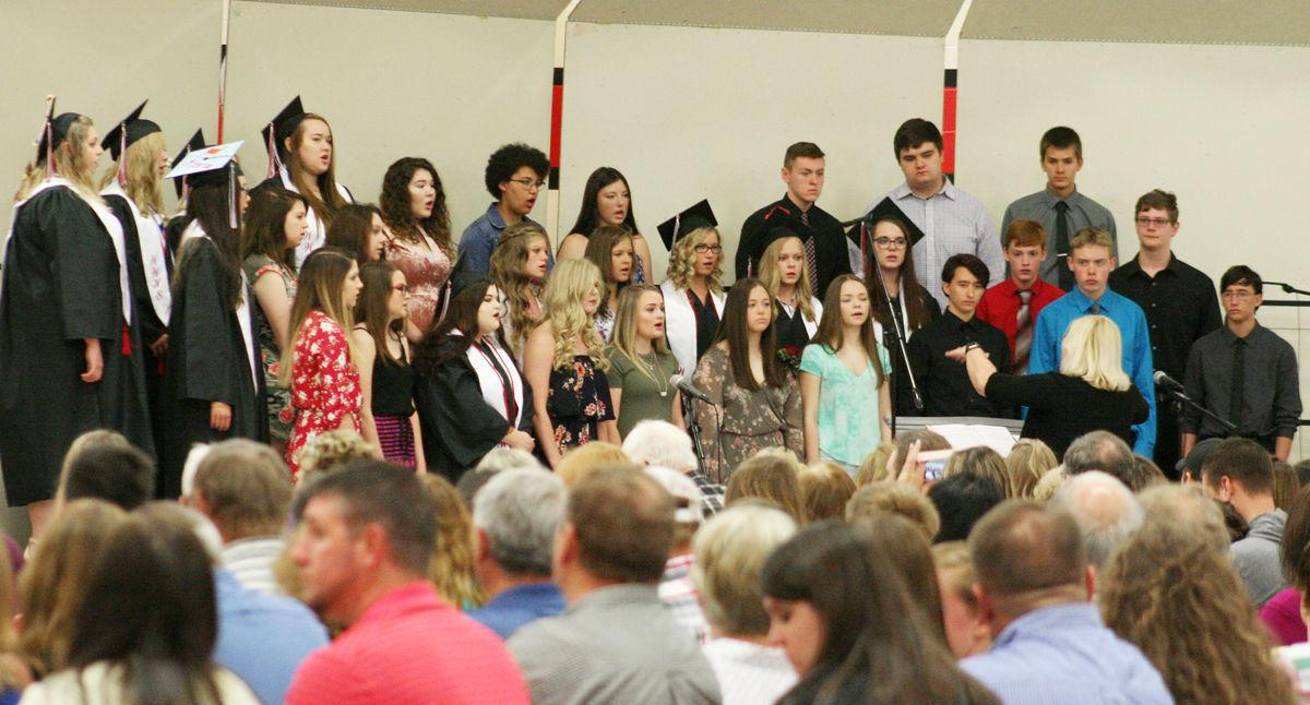 WWHS choir sings at graduation