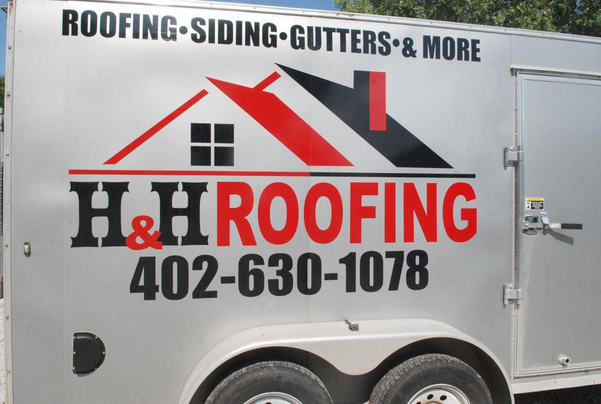 Side of roofing trailer