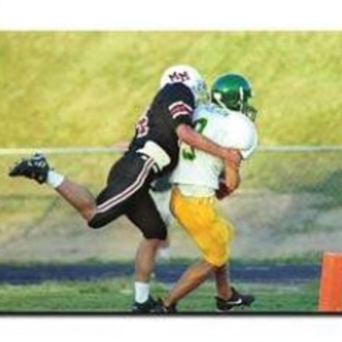 premium selection b6306 b2b9d Matt Nelson of Fremont Bergan hauls in a 23-yard touchdown ...