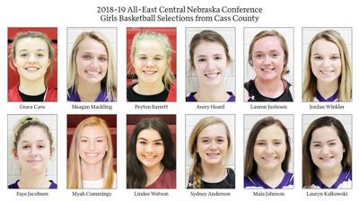 2018-19 All-East Central Nebraska Conference Girls Basketball Selections from Cass County
