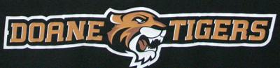 Doane Tigers sports logo from banner