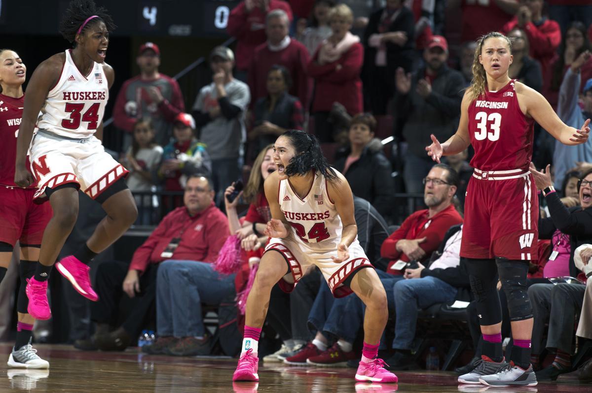 Nebraska women's basketball against Wisconsin